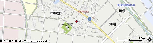 愛知県愛西市赤目町周辺の地図