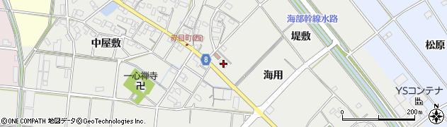 愛知県愛西市赤目町(海用)周辺の地図