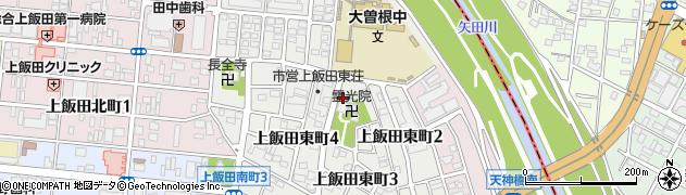 愛知県名古屋市北区上飯田東町周辺の地図