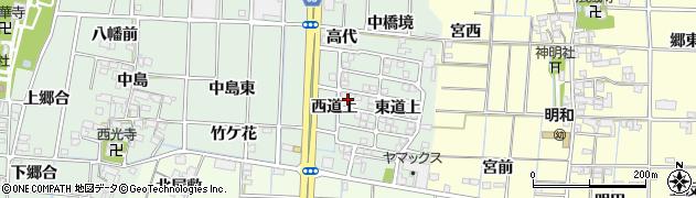愛知県あま市蜂須賀(西道上)周辺の地図