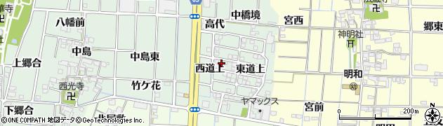 愛知県あま市蜂須賀西道上周辺の地図