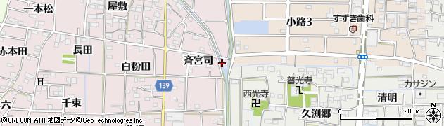 愛知県あま市古道(江畑)周辺の地図