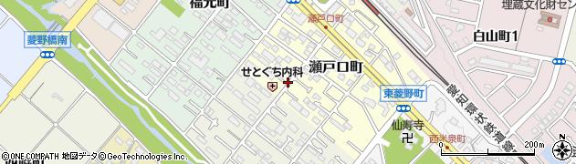愛知県瀬戸市瀬戸口町周辺の地図