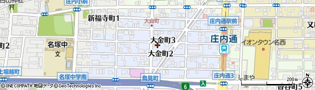 愛知県名古屋市西区大金町周辺の地図