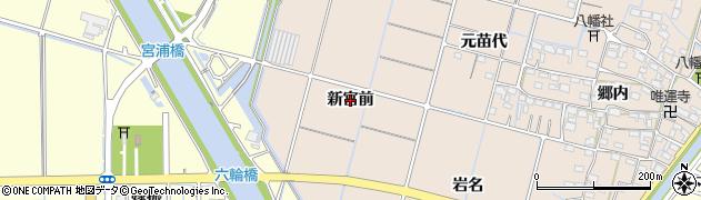 愛知県稲沢市平和町東城(新宮前)周辺の地図