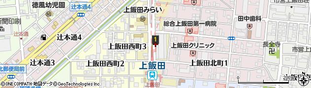 愛知県名古屋市北区上飯田通周辺の地図