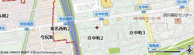 愛知県尾張旭市庄中町(渋川)周辺の地図