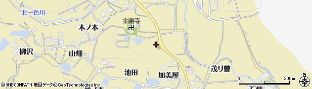 愛知県豊田市北一色町(川原)周辺の地図