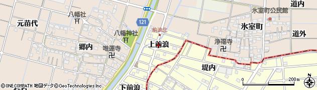 愛知県稲沢市平和町(上前浪)周辺の地図