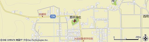野井神社周辺の地図