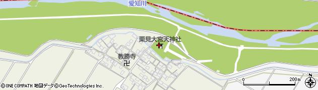 栗見大宮天神社周辺の地図
