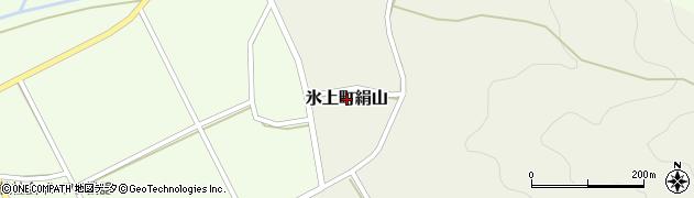 兵庫県丹波市氷上町絹山周辺の地図