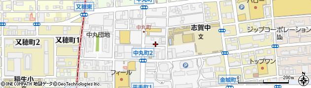 愛知県名古屋市北区中丸町周辺の地図