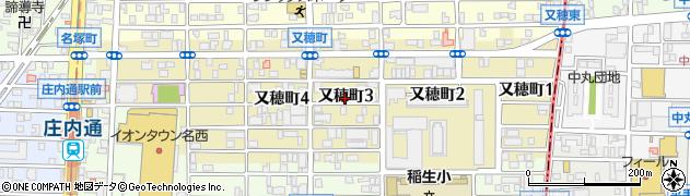 愛知県名古屋市西区又穂町周辺の地図