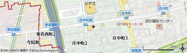 愛知県尾張旭市庄中町周辺の地図