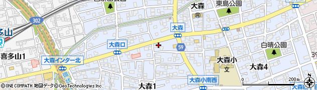 愛知県名古屋市守山区大森周辺の地図