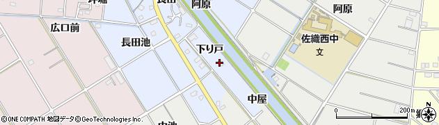 愛知県愛西市西川端町(下り戸)周辺の地図