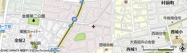 愛知県名古屋市守山区永森町周辺の地図