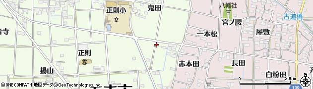 愛知県あま市二ツ寺(鬼田)周辺の地図