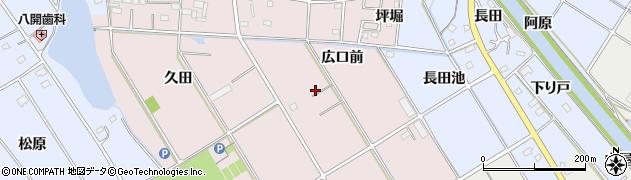 愛知県愛西市鷹場町(広口前)周辺の地図