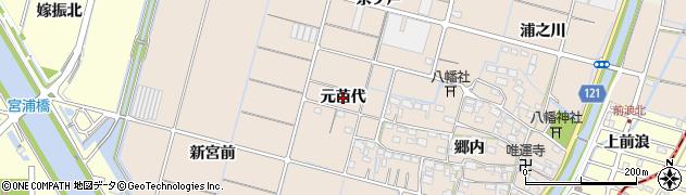 愛知県稲沢市平和町東城(元苗代)周辺の地図