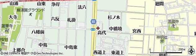 愛知県あま市蜂須賀(高代)周辺の地図
