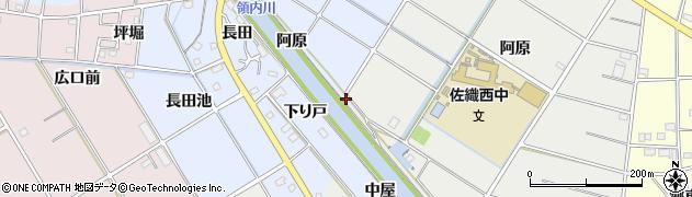 愛知県愛西市西川端町(阿原)周辺の地図