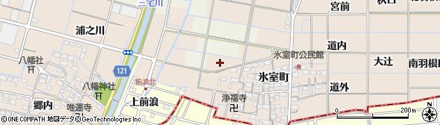 愛知県稲沢市氷室町(古川新田)周辺の地図