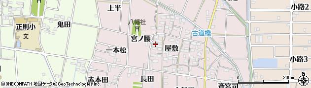 愛知県あま市古道屋敷周辺の地図