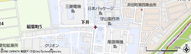 愛知県尾張旭市下井町周辺の地図