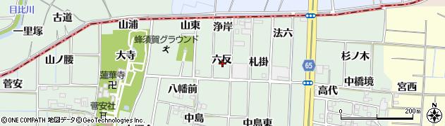 愛知県あま市蜂須賀(六反)周辺の地図