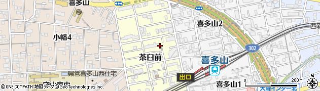 愛知県名古屋市守山区茶臼前周辺の地図