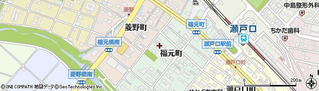 愛知県瀬戸市福元町周辺の地図