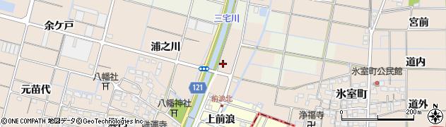 愛知県稲沢市平和町東城(前浪)周辺の地図