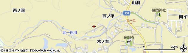愛知県豊田市北一色町(西ノ平)周辺の地図