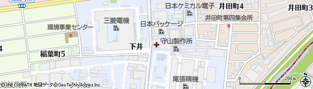 愛知県尾張旭市下井町(下井)周辺の地図