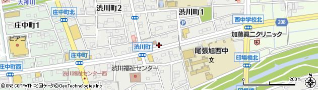 愛知県尾張旭市渋川町周辺の地図