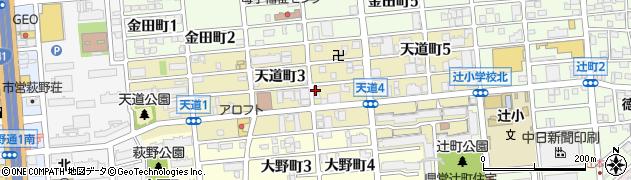愛知県名古屋市北区天道町周辺の地図