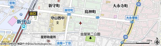 愛知県名古屋市守山区鳥神町周辺の地図