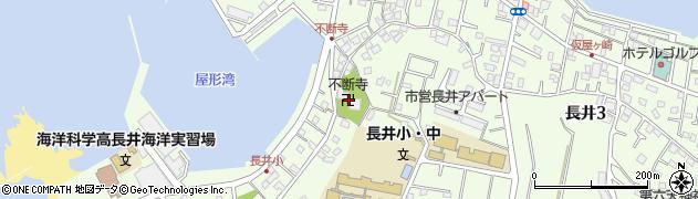 不断寺周辺の地図