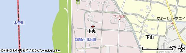 愛知県愛西市下大牧町(中央)周辺の地図