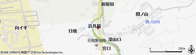 愛知県豊田市上渡合町(浜井場)周辺の地図