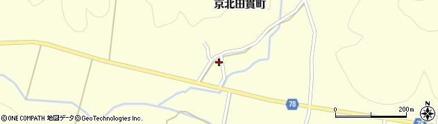 京都府京都市右京区京北田貫町(檀町)周辺の地図