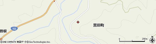 愛知県豊田市黒田町周辺の地図