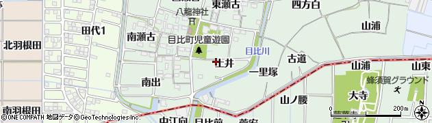 愛知県稲沢市目比町(土井)周辺の地図