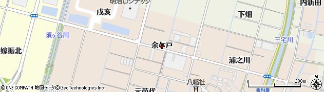 愛知県稲沢市平和町東城(余ケ戸)周辺の地図