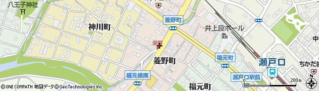 愛知県瀬戸市菱野町周辺の地図