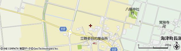 岐阜県海津市海津町立野周辺の地図