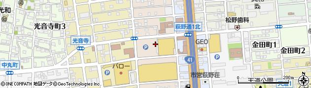 愛知県名古屋市北区浪打町周辺の地図