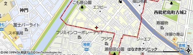 積み木周辺の地図